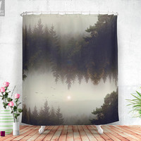 Forest dreams  - Shower curtain - Bathroom - Home decor - Bohemian - Original - Surreal - Wanderlust - Nature - Curtains - Unique.