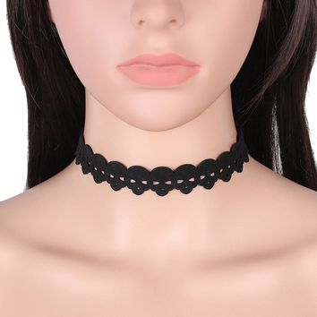 Gothic Lace Retro Choker Collar Lace Snowflake Pendant Chain Necklace Jewelry