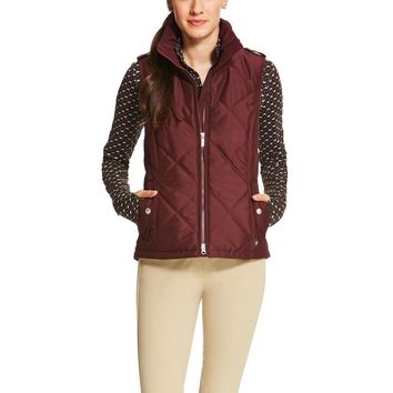 Ariat Ladies Terrace Vest - Malbec