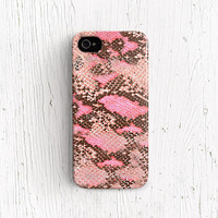 Leather print iPhone 5c case Plastic snake leather iphone 5 case pattern iphone 5s case iphone 4 case pink iphone 4s case silicone case c325