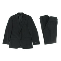 Alfani Mens Wool Flat Front Two-Button Suit