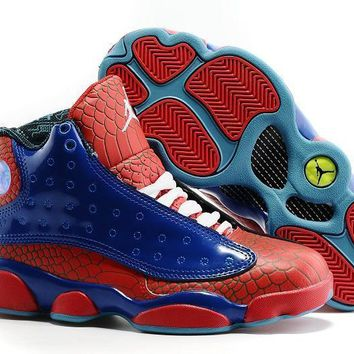 air jordan 13 retro spiderman men basketball shoes size us 8 13