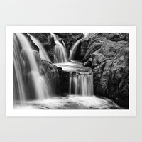 Waterfalls movement Art Print by Claude Gariepy