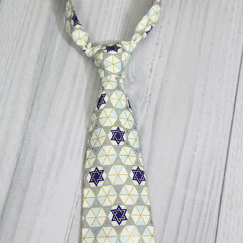 Star of David Hanukkah Boys Neck Tie. Great for Weddings, Holidays, parties, Photo Session prop