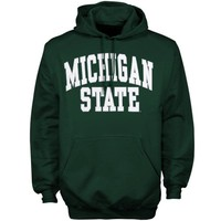 Michigan State Spartans Green Bold Arch Pullover Hoodie Sweatshirt