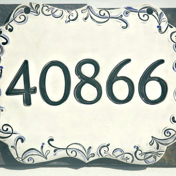 Address Numbers in ceramic - House Numbers, New Home Address, Address Sign