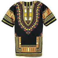 African Dashiki Shirt, Black