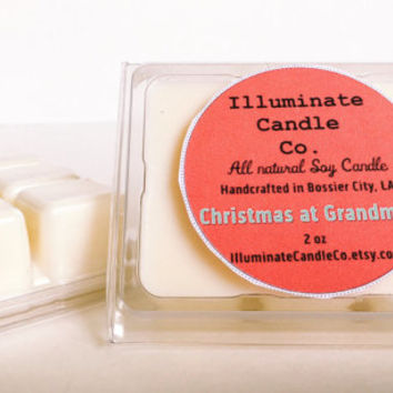 Christmas at Grandma's Soy wax melt, Organic Wax Melt, Wax Tarts, Wax Melt, Soy Wax, Clamshell Melts, Candle melt, Wax warmer