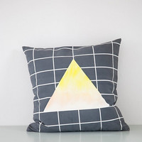 Line and Gleam Triangle Pillow