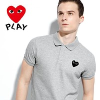 hot sale comme des garcons mens polo shirt 100 cotton top