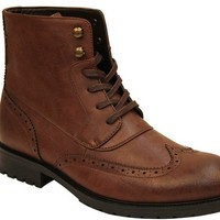 ARIDER BULL-02 Mens Ankle Combat Army Low-Top Causal Boots- BROWN