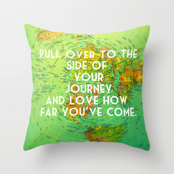 Vintagebeachquotes on etsy on wanelo map quote pillow world map pillow throw pillow cover decorative beach4good inspirational gumiabroncs Choice Image