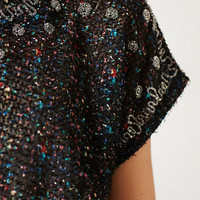 Saturnalia Beaded Peplum Top