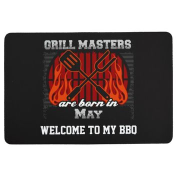 Grill Masters Are Born In May Personalized Floor Mat