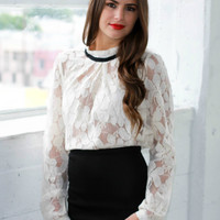 Floral Lace 'Cleo' Blouse