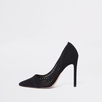 Black laser cut court shoes - Shoes - Shoes & Boots - women