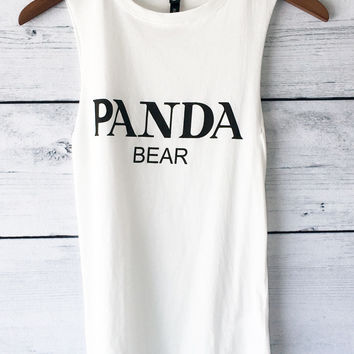 Panda Bear T Shirt - Graphic Tee - Muscle Tank