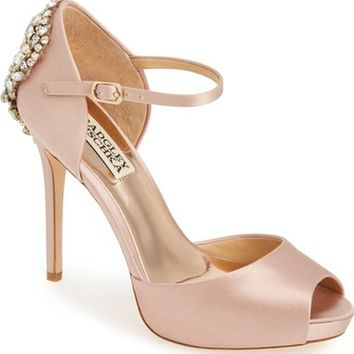 Badgley Mischka 'Dawn' Crystal Back d'Orsay Pump (Women) | Nordstrom