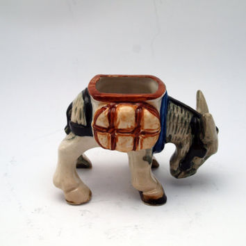 Made in Occupied Japan Donkey Planter