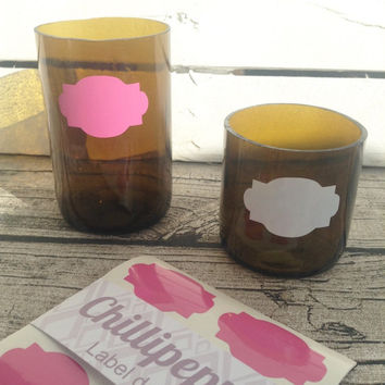 24 Pink label stickers, label decals, Label envelope seals, for packaging, gift wrapping or wedding invitations