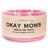 Okay Moms Sippy Cup Wine Scented Candle - Smells Like Truth
