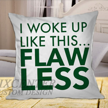 Beyonce Inspired Pillow White on Square Pillow Cover