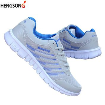 Women Sneakers 2018 Spring Fitness Walking Shoes Striped Lace-Up Sports Shoes Woman Female Mesh Breathable Flats Shoes Size 46