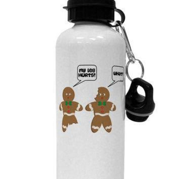 DCCKHD9 Funny Gingerbread Conversation Christmas Aluminum 600ml Water Bottle