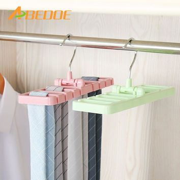 ABEDOE Multifuction Storage Rack Tie Belt Organizer Rotating Ties Hanger Holder Closet Organization Wardrobe Finishing Rack