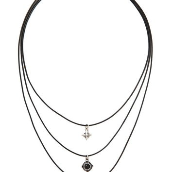 Star Feather Necklace Set