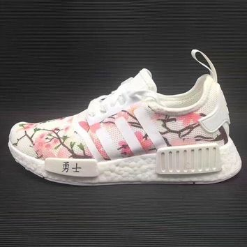 Adidas NMD Boost Women Cherry Blossoms Running Sport Casual Shoe 68b9522269
