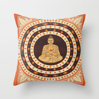 44. BUDDHA Throw Pillow by Zen Pencils