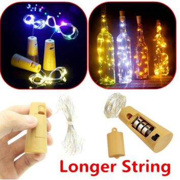 20 Led 2m Copper Wire String Light Mini Fairy Night Light Bedroom Lamp Wine Bottle Cork Lights for Wedding Party Decoration