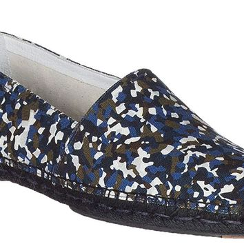 Fendi Men's Camouflage Granite Print Espadrilles Loafers Flats Shoes