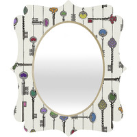 Belle13 Love Is The Key Quatrefoil Mirror
