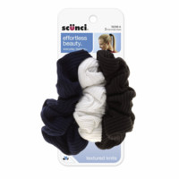 Scunci Effortless Beauty Basic Ruffle Ribbed Twist Scrunchies 3 ea - Pharmapacks