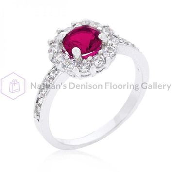 Bella Birthstone Engagement Ring In Pink (size: 09) R08347R-C17-09