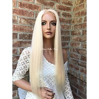 Sandy SILK TOP Blonde Full Lace Wig 22""