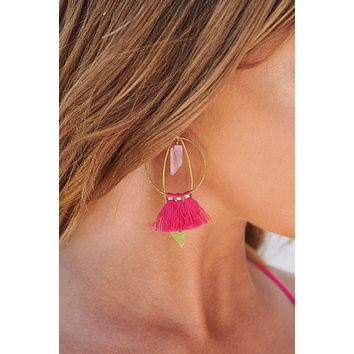 It's Innocent Drop Earrings (Pink)