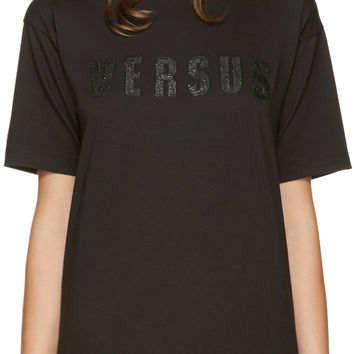 Black Embroidered Logo T-Shirt