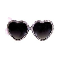 Antique Pink Swarovski® Heart Sunnies