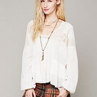 Free People Womens In Pieces Behind Me Sweater Peplum - Ivory, M