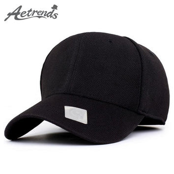[AETRENDS] 4 Solid Color Sports Baseball Cap Polo Hats for Men or Women bone golf hat Z-1477