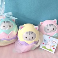 Luna tabby kitty egg squishy ~ floral scented licensed rare