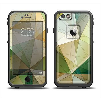 The Green Geometric Gradient Pattern Apple iPhone 6/6s LifeProof Fre Case Skin Set