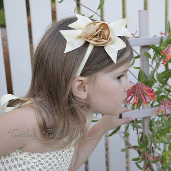 Flower Girl Ivory Tower Headband