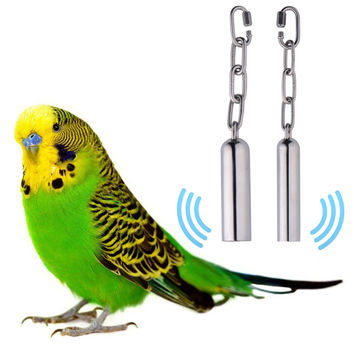 1pcs Stainless Steel Hanging Bell Bird Parrot Cage Bite Toy Squirrel Parrot Pigeon Swing Stand Toys Bells Dropshipping