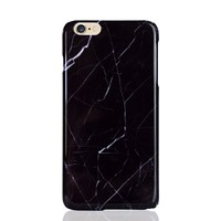 Minimal Marble Statement iPhone Case | Black