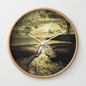 Good night sweet sun Wall Clock by HappyMelvin