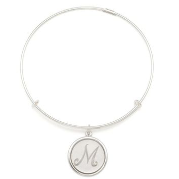 Alex and Ani Precious Initial M Charm Bangle - Argentium Silver